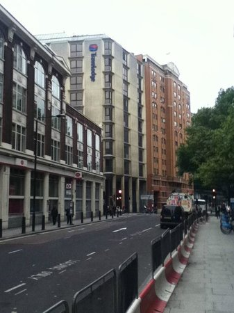 LSE High Holborn Residence: the red house is the hotel
