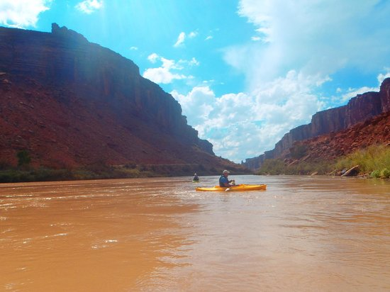 Canyon Voyages Adventure Co - Day Tours: Guide Mark on our kayak trip down the Colorado