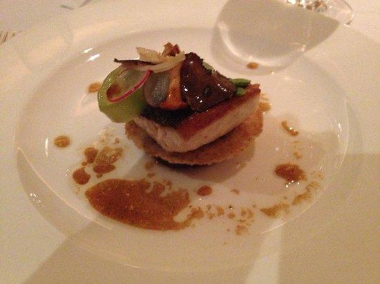 Restaurant Hotel Merlet: Tussengerecht menu Gastronomique.
