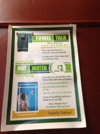 Gracehouse Resort: How to get hot water