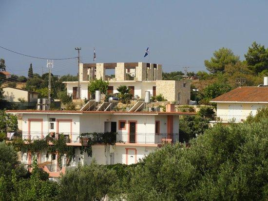 Makis Studios : View from balcony