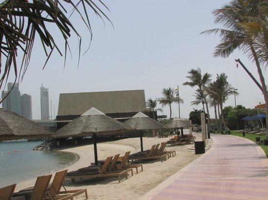 Beach Rotana: Beach area
