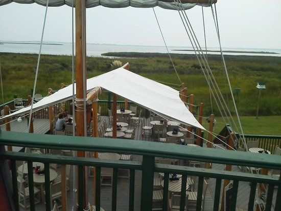 Pamlico Jacks : View from top deck of pirate ship.