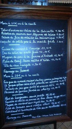 Chaumont-sur-Loire, Francia: Menu