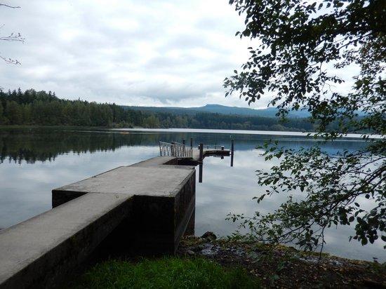 Lake Padden Park: Lake Padden dock.