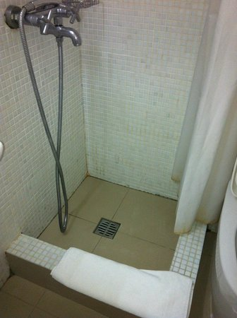 Anemos Beach Lounge Hotel: The shower