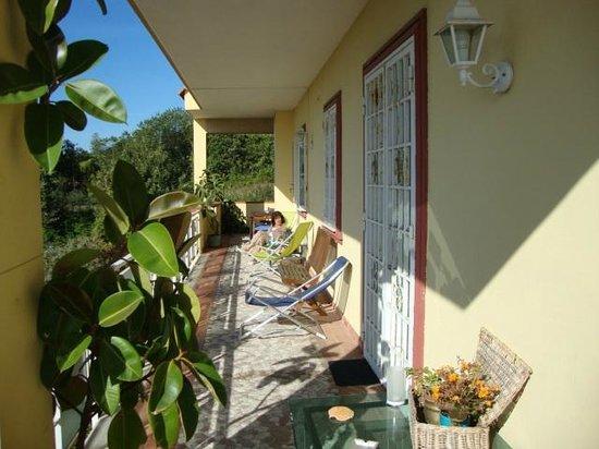 B&B Villa Carolina : mattina sul terazzo