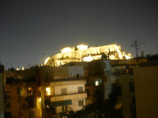 Athens Backpackers : vue de la terrasse