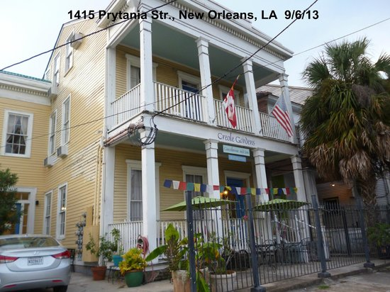 Creole Gardens Guesthouse Bed & Breakfast: Streetview of B & B