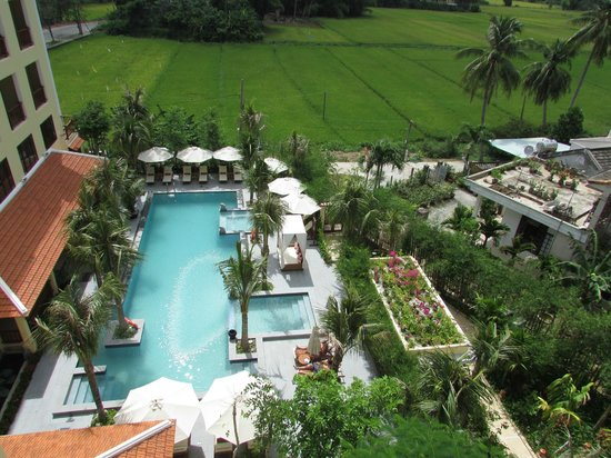 Essence Hoi An Hotel & SPA: View from 5th floor room balcony