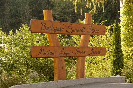 Bathgate General Store, Resort & Marina: Bathgate Entrance Sign