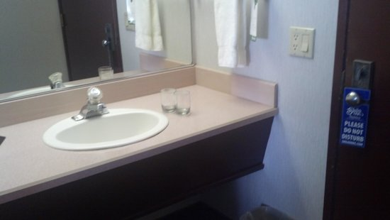 Shilo Inn Suites - Newberg : Sink next to entry door