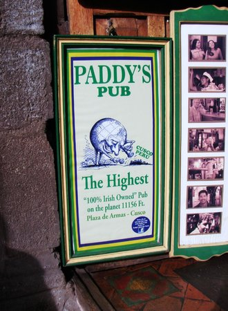 Paddy's Irish Pub: Paddy's Cusco...very comfortable pub