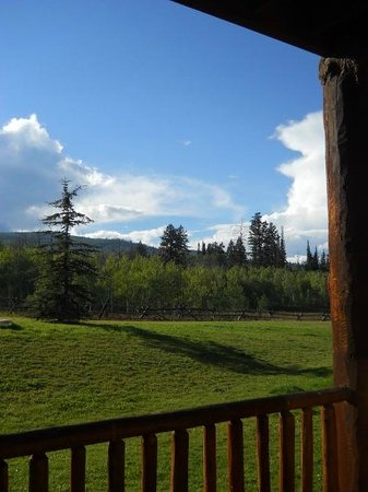 Daniels Summit Lodge: Our deck view