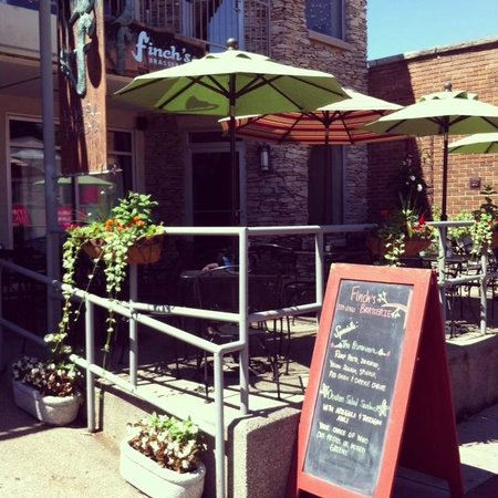 Finch's: Outdoor Seating...the BEST in Bloomington!