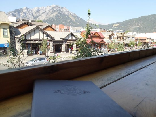 "Banff Ave Brewing Co: View from the ""bar"" on the balcony."