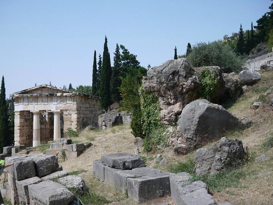 ancient writing on the ruins of delphi - Picture of Delphi ...