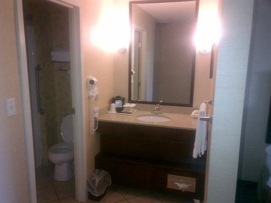 Holiday Inn Lethbridge: Another shot of the bathroom area