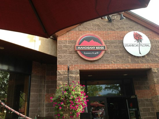 Mahogany Ridge Brewery and Grill: A View From Under a Patio Umbrella