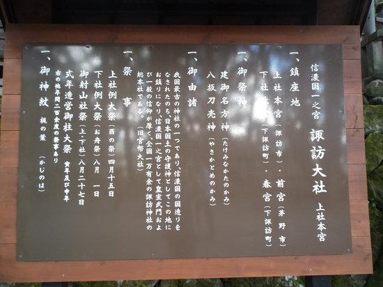 Suwa Shrine: 諏訪大社上社本宮