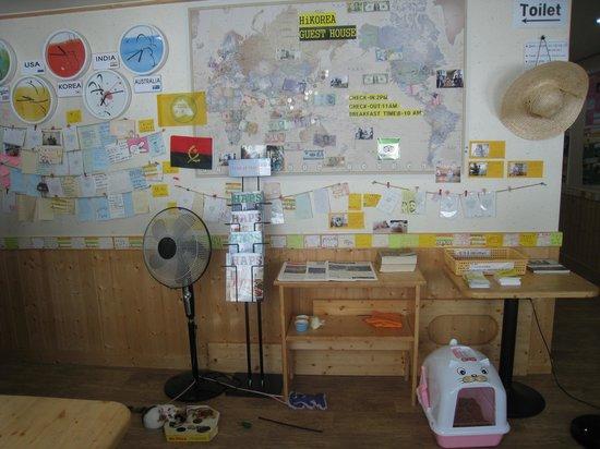 HiKorea Hostel Beaksajang: 世界中の人が泊まってました!