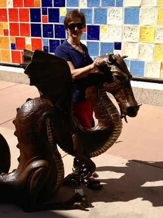 Downtown Grand Junction: sea horse - one of many sculptures