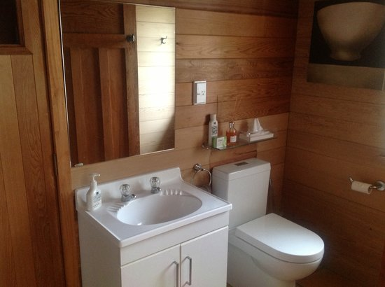 Retreat On The Park : Bathroom with shower and sauna.  All toiletries are Eco friendly.