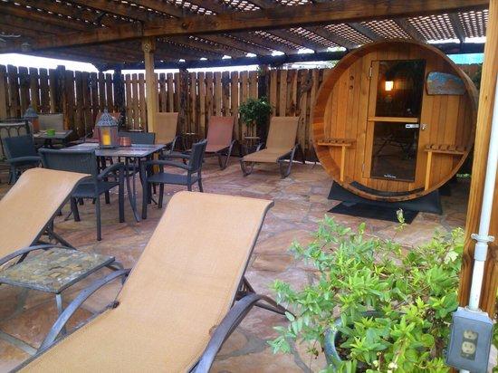 Riverbend Hot Springs: Sauna