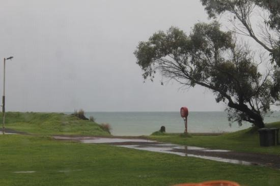 Henty Bay Beachfront Holiday Park: view from our van
