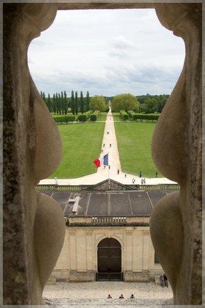 Château de Chambord: Вид с крыши через балюстраду