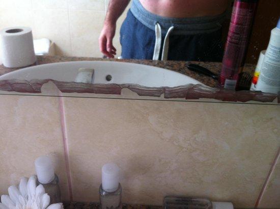 Quinta Pedra dos Bicos: Mirror in bathroom
