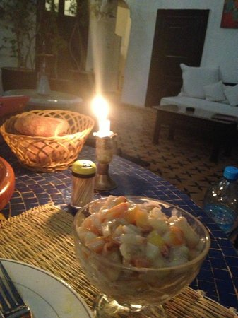 Riad Jomana : Dessert during Riad Dinner