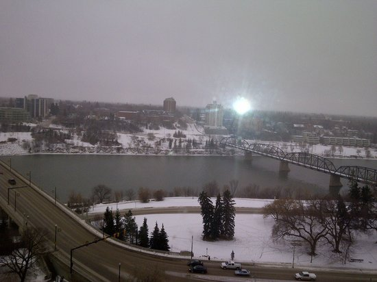 ‪‪Radisson Hotel Saskatoon‬: View from 18th floor‬