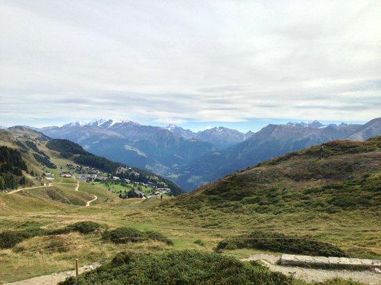 Berghaus Toni: uitzicht van op de berg