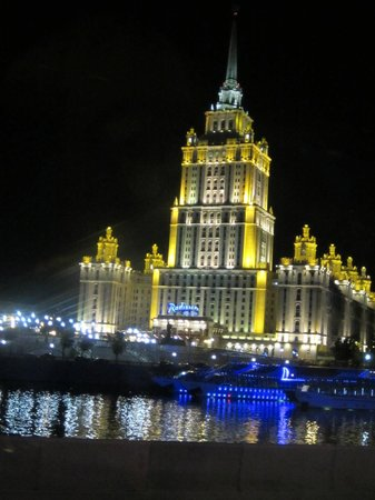 Radisson Royal Hotel Moscow: night time lighting.