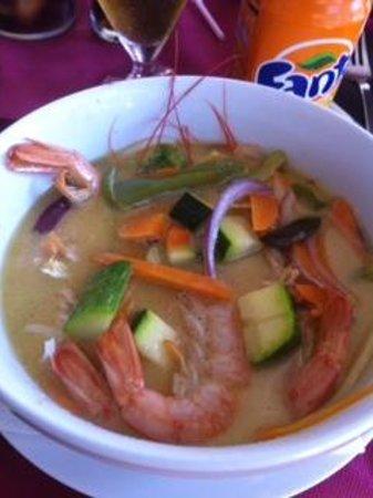 Wattana Thai Restaurant: curry verde con gambas