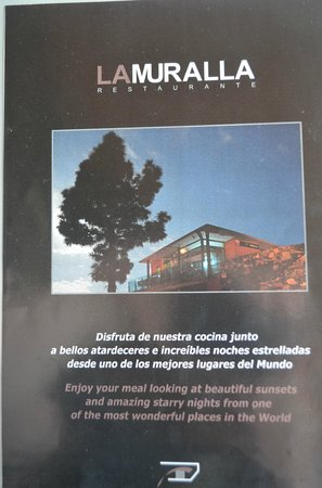 La Muralla : Menukaart