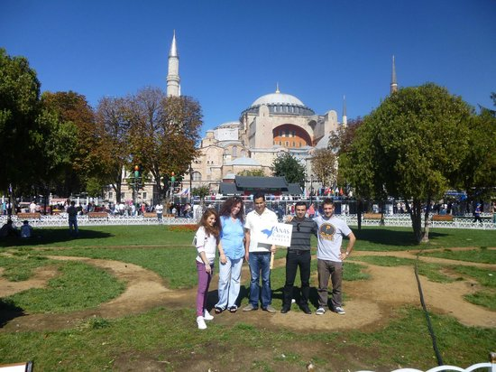 Anas Crecca Travel - Day Tours: Anas Crecca staff in front of Hagia Sophia (Istanbul)