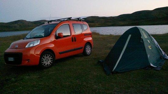 Kirkeporten Camping: Era mezzanotte di agosto!
