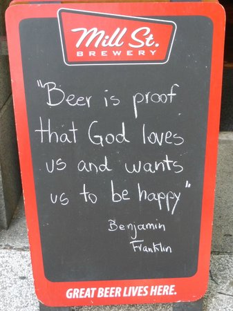 Elephant & Castle Pub & Restaurant: Sign by Pub Entrance