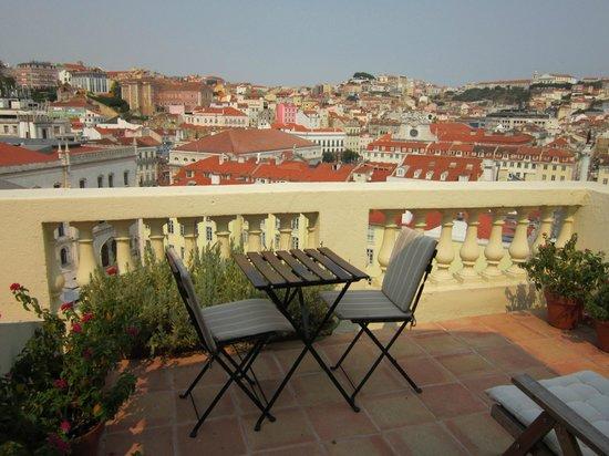 Casa Balthazar: Blick auf die Terrasse