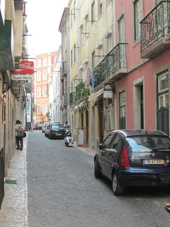 Casa Balthazar: Rua do Duque; Hotel hinten rechts