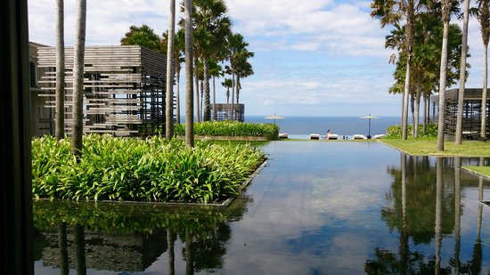 Alila Villas Uluwatu: view from the lobby