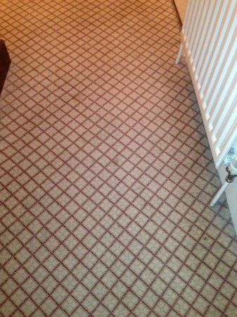 The Mitre Hotel: Stains on bedroom carpet