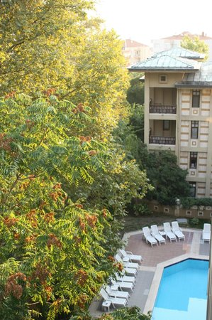 Kervansaray Termal Hotel : One of the pools, seen from our balcony - room 525
