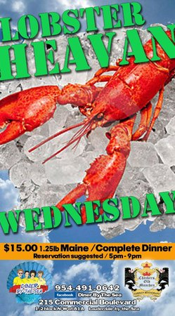 Diner By-The-Sea: Lobster Dinner $15.00