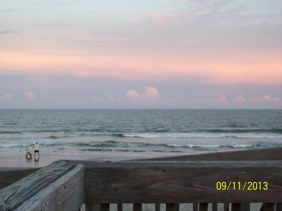 Oceanfront Litchfield Inn: I took this sunset picture from the balcony of our room