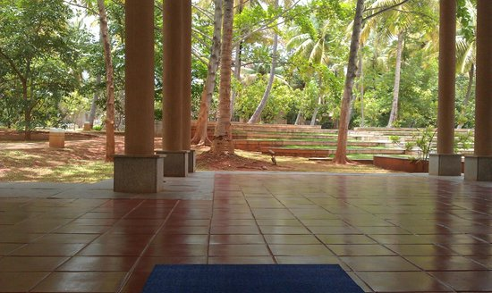 Shreyas Yoga Retreat: View from the yoga hall