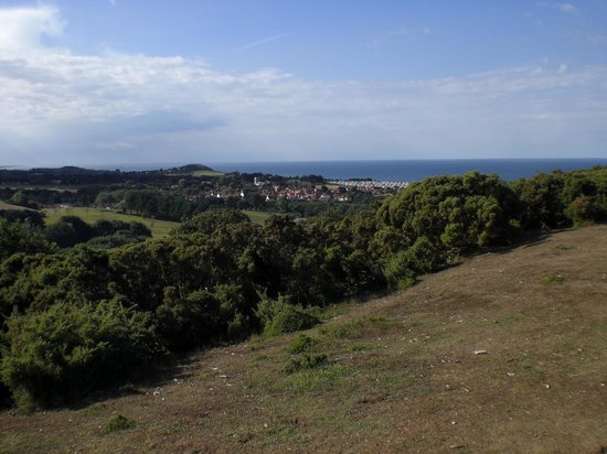 West Runton Camping and Caravanning Site: View from the top. Five minutes from site