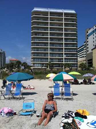 Carolina Winds: Our building from the beach